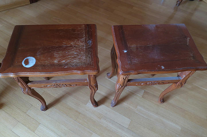 экспресс-реставрация мебели, восстановление, ремонт, обновление прикроватного столика
