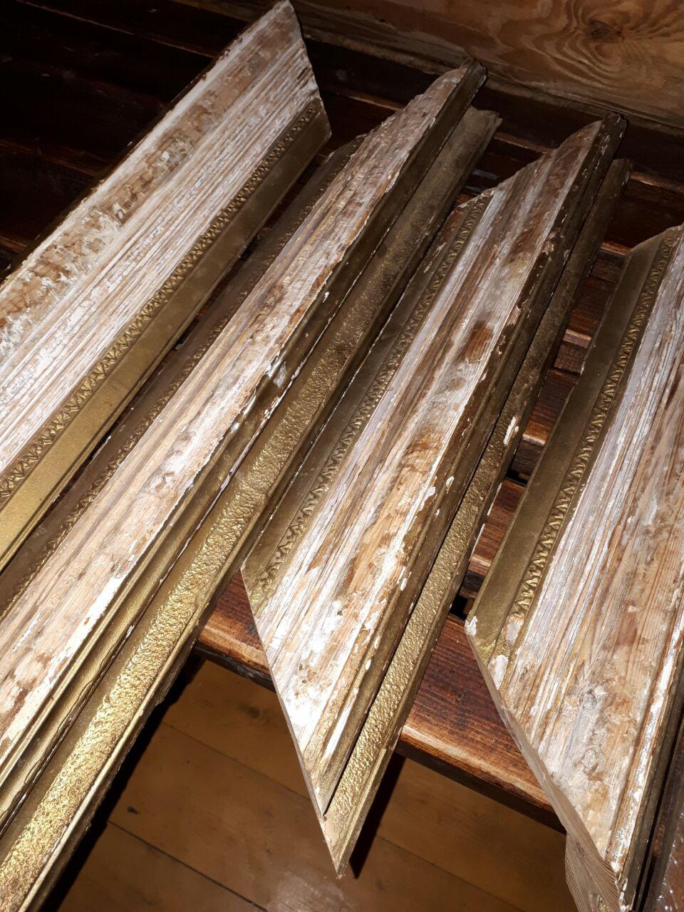 Восстановление реставрация старинной картинной рамы в реставрационной мастерской RESTORER.EXPERT