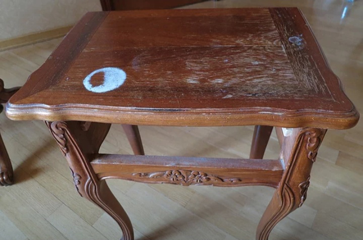 Экспресс-реставрация группы столов середины 20 века в реставрационной мастерской RESTORER.EXPERT