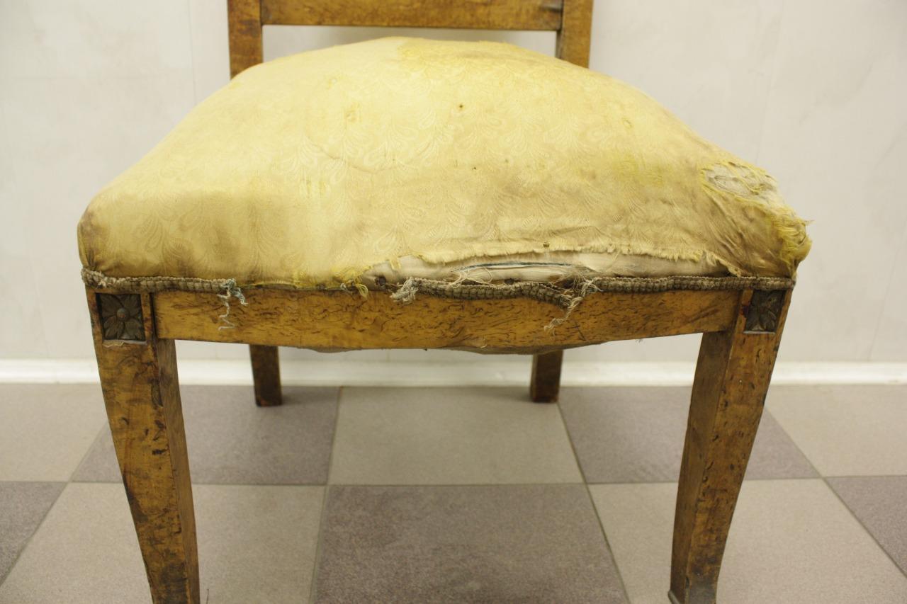 Реставрация антиквартного стула Лебеди