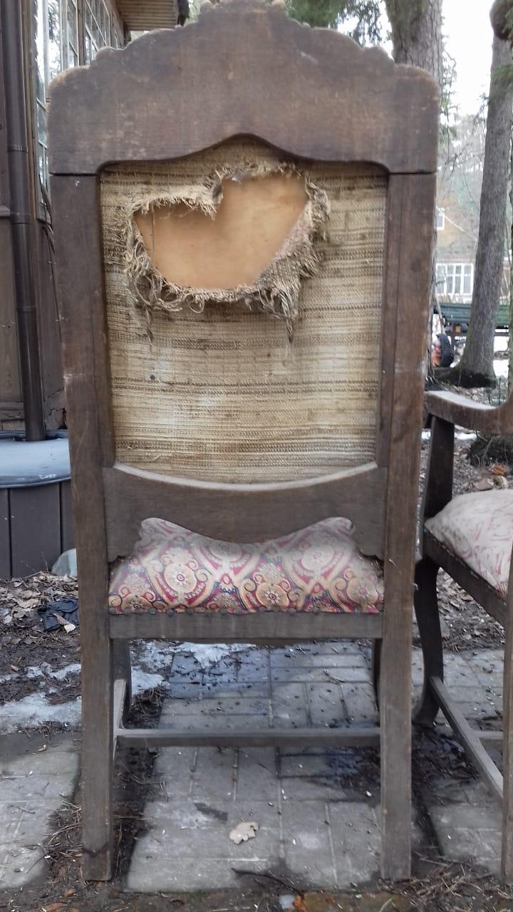 Реставрация и перетяжка старинных кресел