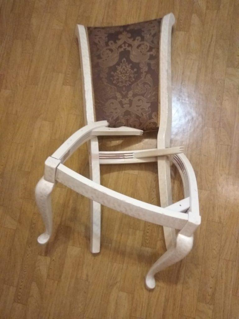 Ремонт и химчистка итальянского стула в реставрационной мастерской RESTORER.EXPERT