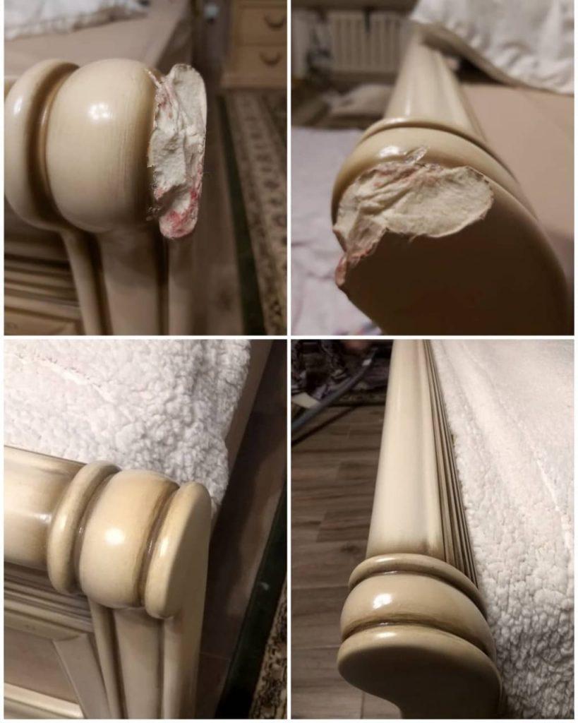 Выездная реставрация изножья кровати в реставрационной мастерской Restorer.expert